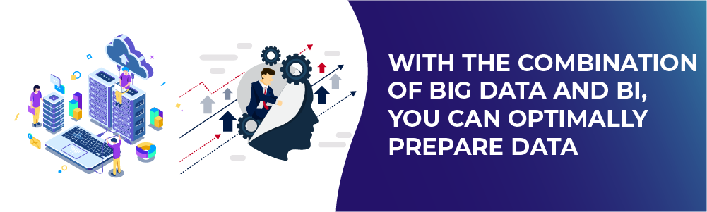 with the combination of big data and bi, you can optimally prepare data